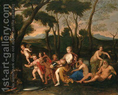 The Abduction of Rinaldo by (after) Nicolas Poussin - Reproduction Oil Painting