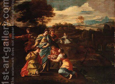 The finding of Moses 2 by (after) Nicolas Poussin - Reproduction Oil Painting