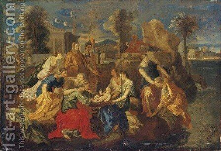The Finding of Moses 3 by (after) Nicolas Poussin - Reproduction Oil Painting