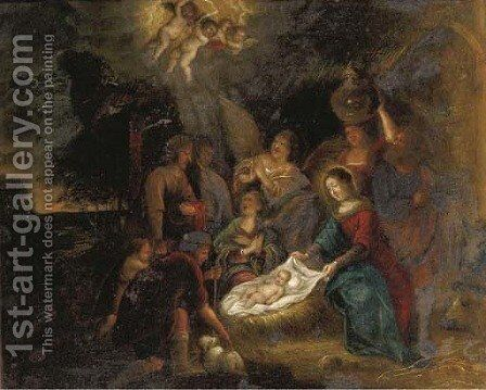 The Nativity by (after) Otto Van Veen - Reproduction Oil Painting