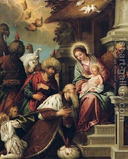 The Adoration of the Magi 2 by (after) Paolo Veronese (Caliari) - Reproduction Oil Painting