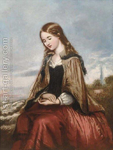 A rustic Madonna by (after) Paul Falconer Poole - Reproduction Oil Painting