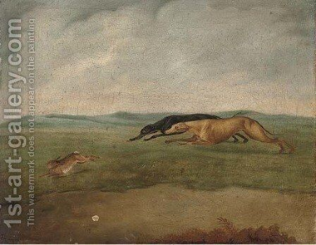 Hare coursing by (after) Philip Reinagle - Reproduction Oil Painting