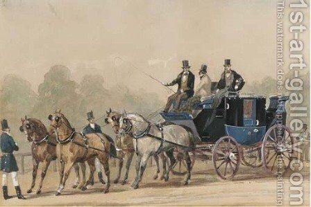 A set of four coaching scenes by (after) Philip H. Rideout - Reproduction Oil Painting