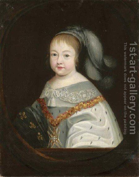 Portrait of the Infant King Louis XIV by (after) Philippe De Champaigne - Reproduction Oil Painting