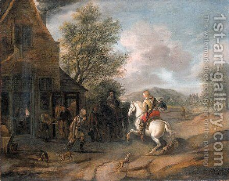 Travellers at the blacksmith's by (after) Philips Wouwerman - Reproduction Oil Painting
