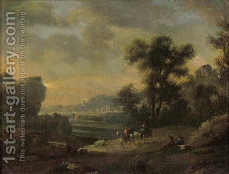 Peasants returning from market by (after) Pieter Bout And Adriaen Fransz. Boudewijns - Reproduction Oil Painting
