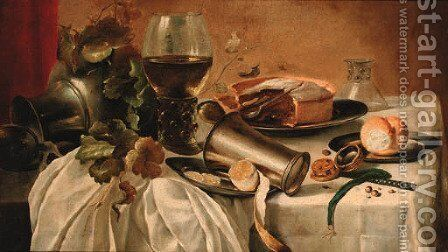 Still life by (after) Pieter Claesz - Reproduction Oil Painting