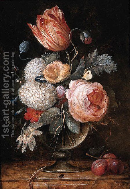 Flowers by (after) Pieter Gallis - Reproduction Oil Painting