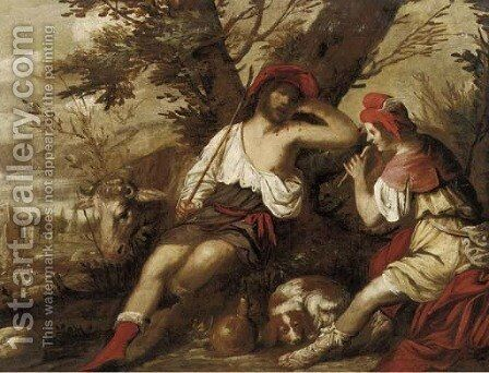 Mercury and Argus by (after) Pietro Della Vecchio - Reproduction Oil Painting