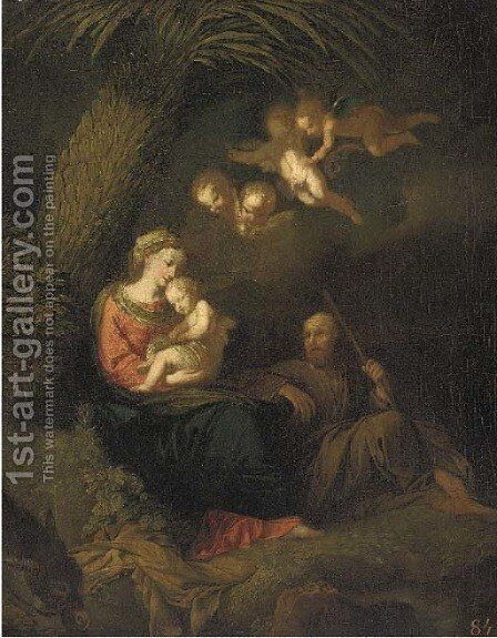 The Rest on the Flight into Egypt by (after) Pompeo Gerolamo Batoni - Reproduction Oil Painting