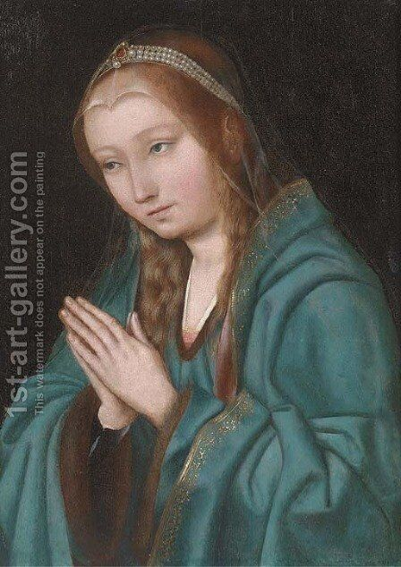 The Virgin at prayer by (after) Quentin Metsys - Reproduction Oil Painting