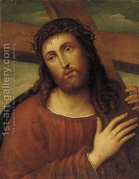 Christ Carrying the Cross by (after) Raphael (Raffaello Sanzio of Urbino) - Reproduction Oil Painting