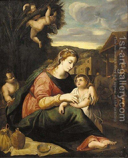 The Holy Family 2 by (after) Raphael (Raffaello Sanzio of Urbino) - Reproduction Oil Painting
