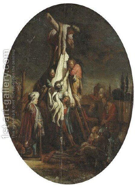 The Descent from the Cross by (after) Rembrandt Van Rijn - Reproduction Oil Painting