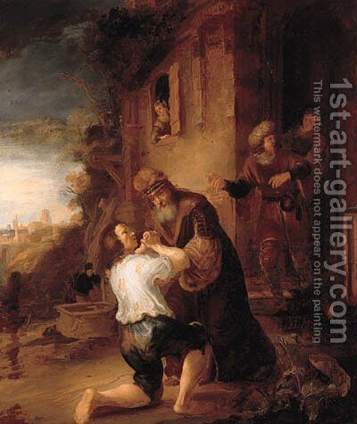 The Return of the Prodigal Son by (after) Rembrandt Van Rijn - Reproduction Oil Painting