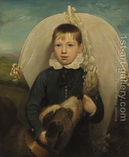 Portrait of a young boy by (after) Richard Reinagle - Reproduction Oil Painting