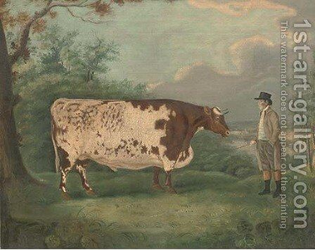 A prize bull by (after) Richard Whitford - Reproduction Oil Painting