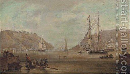 Rowing the captain ashore by (after) Robert Salmon - Reproduction Oil Painting