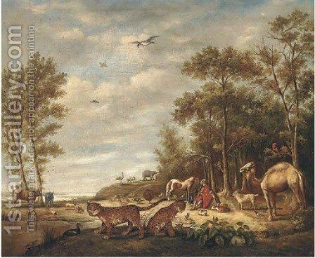 Orpheus charming the animals 2 by (after) Roelandt Jacobsz Savery - Reproduction Oil Painting