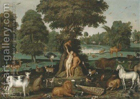 The Fall of Man by (after) Roelandt Jacobsz Savery - Reproduction Oil Painting