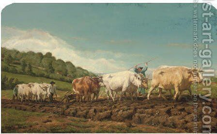 Labourage nivernais by (after) Rosa Bonheur - Reproduction Oil Painting