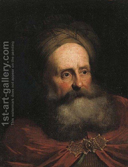 A bearded man by (after) Salomon Koninck - Reproduction Oil Painting