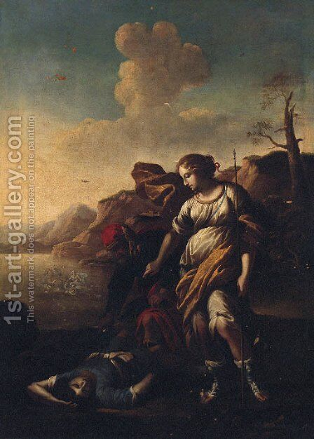 Diana and Endymion by (after) Rosa, Salvator - Reproduction Oil Painting