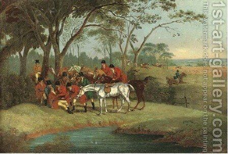 The fall of Tom Moody by (after) Samuel Henry Gordon Alken - Reproduction Oil Painting