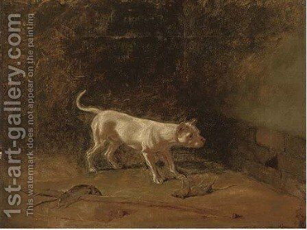 The rat-catcher by (after) John Samuel Raven - Reproduction Oil Painting