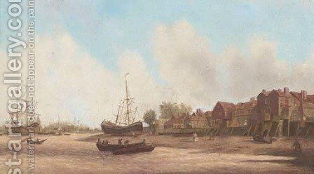 Rotherhithe by (after) Samuel Scott - Reproduction Oil Painting