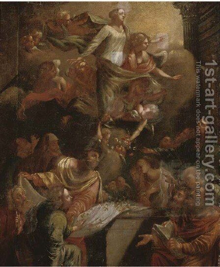 The Ascension of the Virgin by (after) Sebastiano Conca - Reproduction Oil Painting