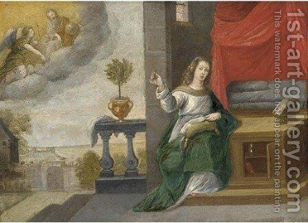 The Annunciation by (after) Simon De Vos - Reproduction Oil Painting