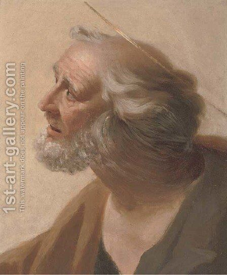 A male Saint by (after) Simon Vouet - Reproduction Oil Painting
