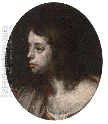 Portrait of a boy by (after) Simon Vouet - Reproduction Oil Painting