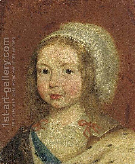 Portrait of a girl by (after) Simon Vouet - Reproduction Oil Painting