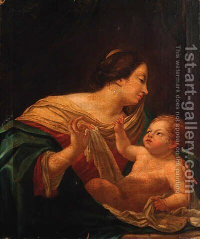 The Madonna and Child 2 by (after) Simon Vouet - Reproduction Oil Painting