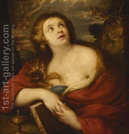 The penitent Magdalene by (after) Simon Vouet - Reproduction Oil Painting