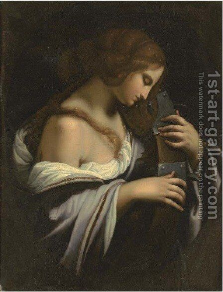 Saint Catherine of Alexandria by (after) Simone Pignoni - Reproduction Oil Painting