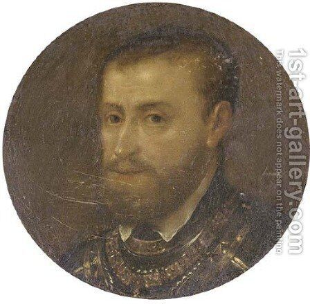 Portrait of a gentleman, bust-length, in armour by (after) Dyck, Sir Anthony van - Reproduction Oil Painting