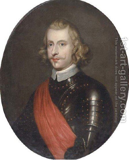 Portrait of Cardinal Infante Ferdinand of Austria (1609-1641), Governor of the Spanish Netherlands, half-length, wearing an armour and with sash by (after) Dyck, Sir Anthony van - Reproduction Oil Painting