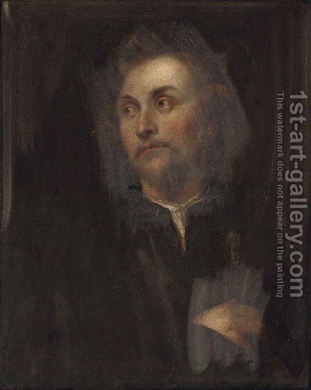 Portrait of the sculptor Georg Petel (1601-2-c. 1634), half-length by (after) Dyck, Sir Anthony van - Reproduction Oil Painting