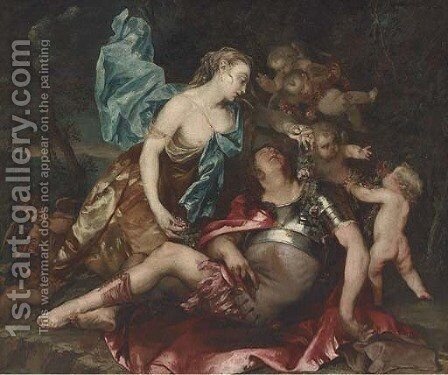 Rinaldo and Armida by (after) Dyck, Sir Anthony van - Reproduction Oil Painting