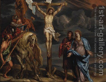 The Crucixion by (after) Dyck, Sir Anthony van - Reproduction Oil Painting
