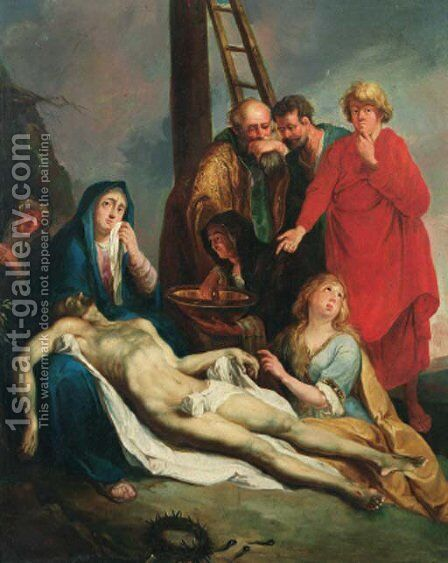The Lamentation 2 by (after) Dyck, Sir Anthony van - Reproduction Oil Painting