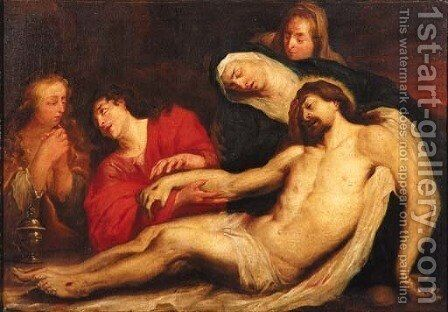 The Lamentation 3 by (after) Dyck, Sir Anthony van - Reproduction Oil Painting