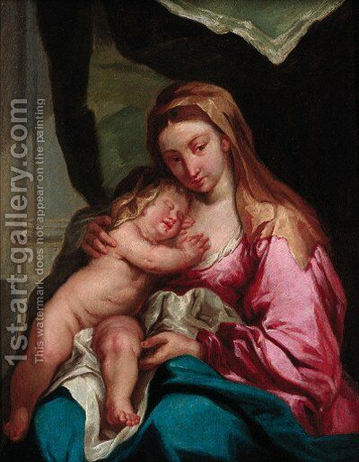 The Madonna and Child by (after) Dyck, Sir Anthony van - Reproduction Oil Painting
