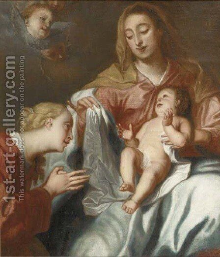 The Virgin and Child with Saint Catherine by (after) Dyck, Sir Anthony van - Reproduction Oil Painting