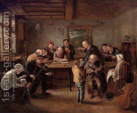 A musical evening by (after) Sir David Wilkie - Reproduction Oil Painting