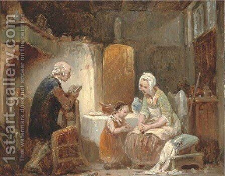 A story after supper by (after) Sir David Wilkie - Reproduction Oil Painting